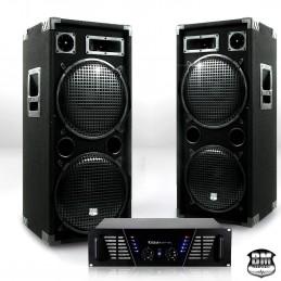 Pack Sono DJ ampli 2 x 800W...
