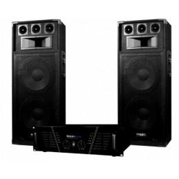 Pack Sono DJ ampli 2 x 800...