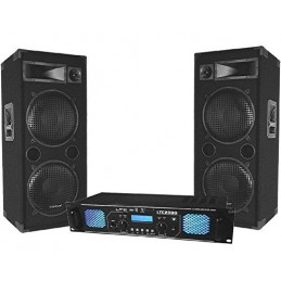 Pack PA DJ 2x1000w amp and...