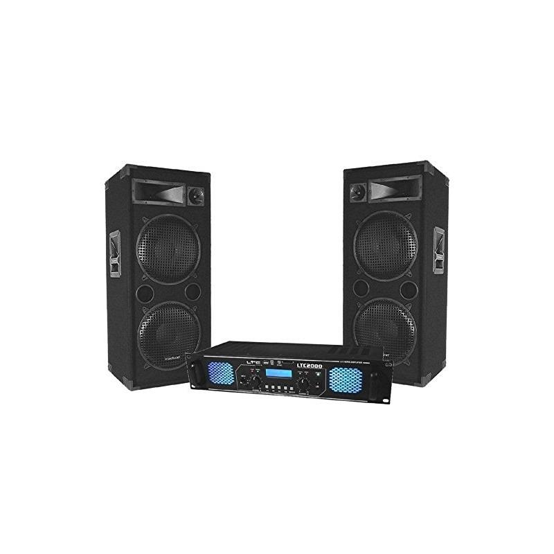 nero Ibiza dj pro amplificatore rack 1200W
