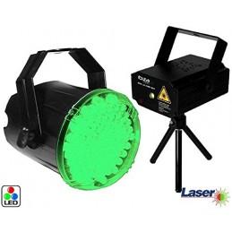 Pack Laser Vert & Rouge +...