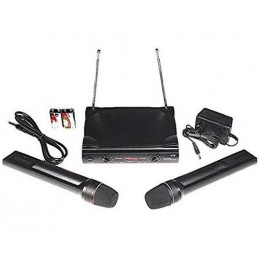 2 wireless microphones VHF...
