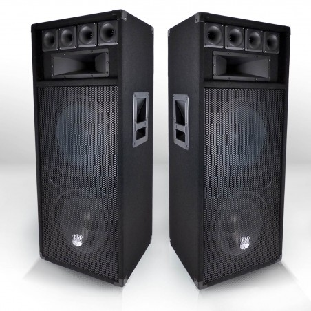 2x pair of speakers 600 W with 2 boomers 31cm