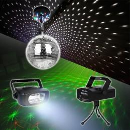 Spiegelkugeln Stoboscope +...