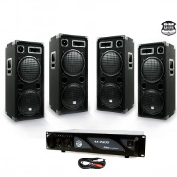 PACK PA DJ 4 speakers 4 x...