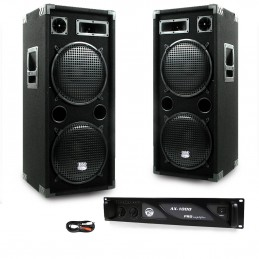 PACK PA DJ 2 speakers 2 x...