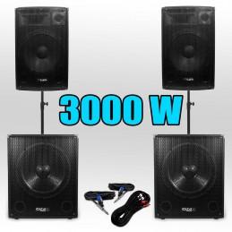 Pack 151515 PA DJ 3000W...
