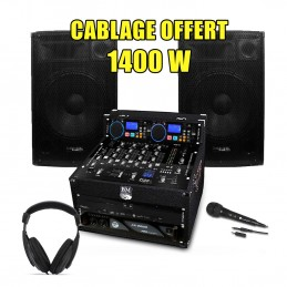 PACK SONO DJ Complet 1400W...