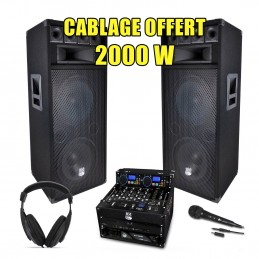 PACK SONO DJ Complet 2000W...
