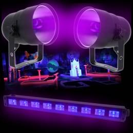 Pack Bar 9x1W UV LED LAMP +...