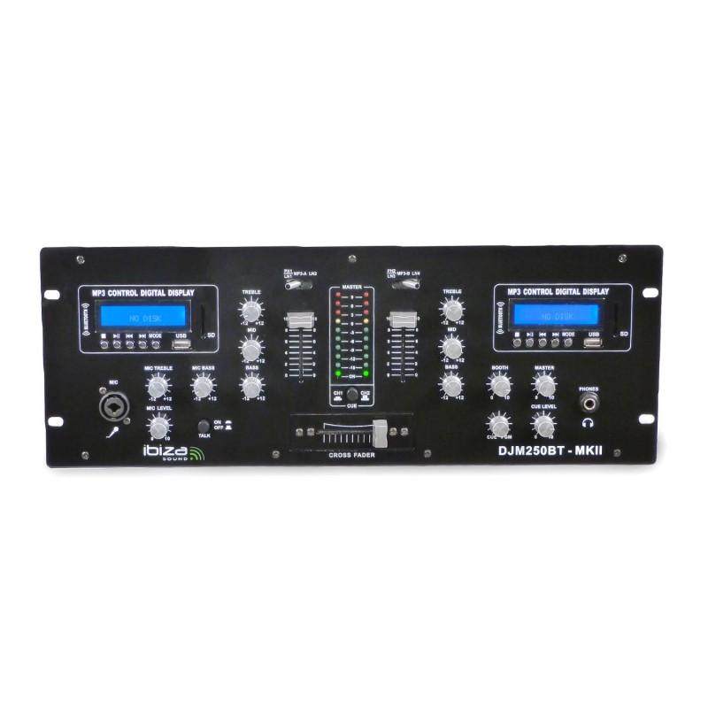 Dj Mixer 2 Channel Usb Sd Bluetooth