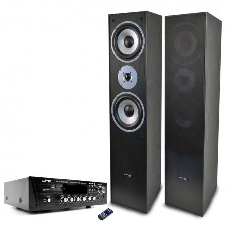 Pair of speakers L766-BL + Amp ATM-7000USB LTC 2X50W