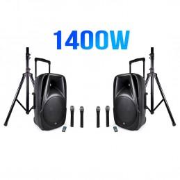 Set of 2 speakers 700W 12...