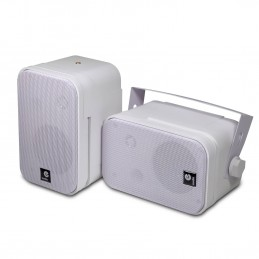 Pair of white mini speaker...