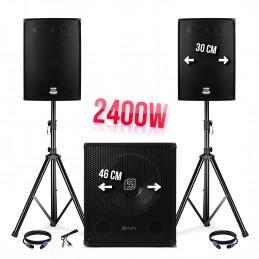 Pack sono 2400W - 2 speaker...