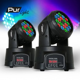Lot de 2 Lyres LED 18x3W...