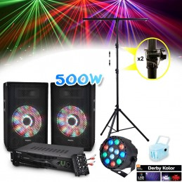 Pack 2 speakers 500W + USB...