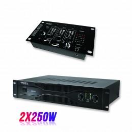Pack PA amplifier 500W...