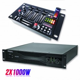 Pack PA amplifier 2000W...
