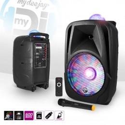"""Mobile speaker 600W 12 """"LED..."""