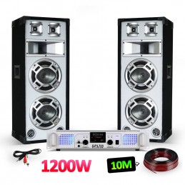 Pack PA - 2 2x8 Speakers...