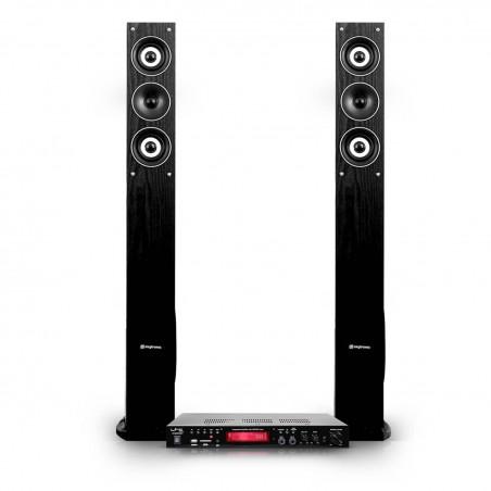 Stereo pair of speakers / Home cinema 3-way 6.5 + 2x50W stereo amplifier HiFi & Karaoke