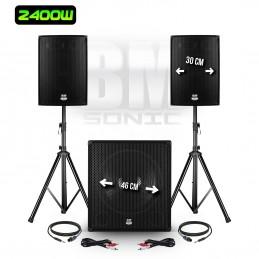 Pack PA DJ 2400W -...