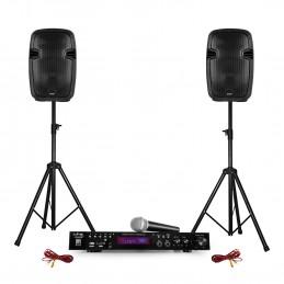 Pack karaoke 2 speakers ABS...