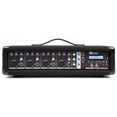 Powered mixer 4 channels - 800W - BLUETOOTH / USB - Power Dynamics PDM-C405A Tel +