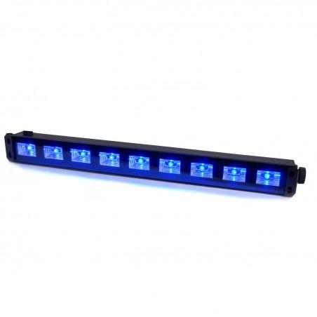 Light games - Bar 9x3W LED UV black light - Ibiza Light LED-UVBAR