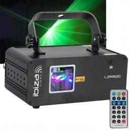 Green laser light show -...