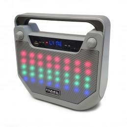 Enceinte autonome Bluetooth Freesound40-SI à led Fonction karaoké - BT/USB/MicroSD/AUX