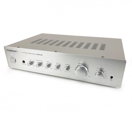Hi-fi Stereo Amplifier 2 x 100w RMS Madison MAD1305SL - Silver
