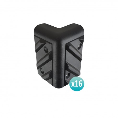 Lot 16 corner protections for pregnant black resistant plastic - VDAC17