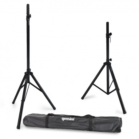 Pack of 2 tripod speaker stands with carry bag - ST-PACK Gemini