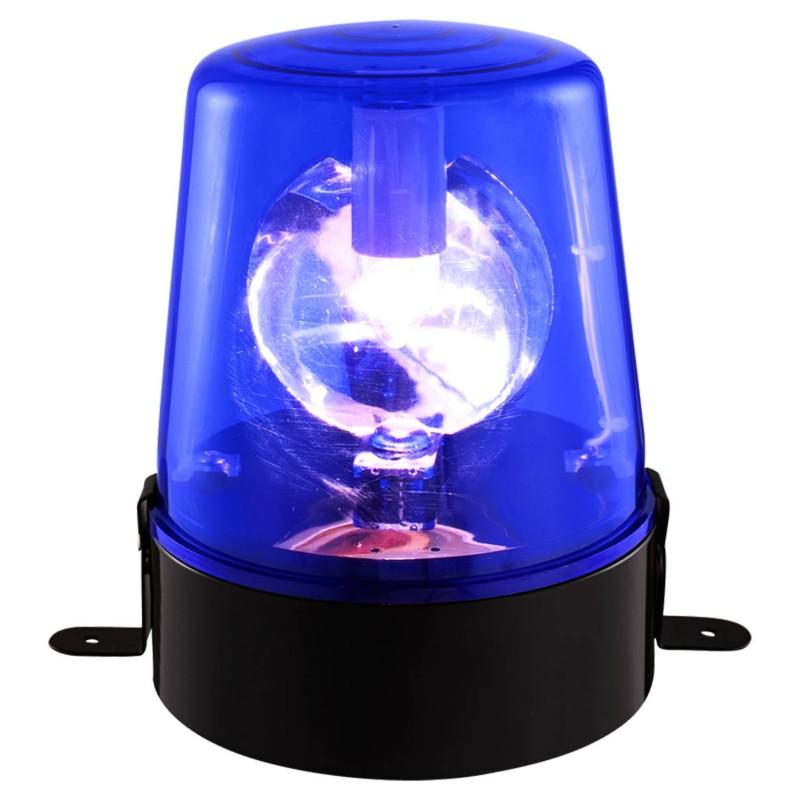 Gyrophare BOOST-009B 220V de couleur bleu avec 2 étriers de fixation - lampe E14/10W - 12V