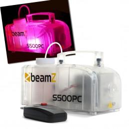 Beamz S500PC Machine à fumée transparente avec LED RGB - 500 Watts - Liquide inclus - 50m3 de fumée par minute