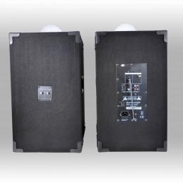 Enceintes active-passive BOOST-KS234ASTRO 250W PMPO karaoké + Astro + Pack COLOR-SHOW Machine à fumée + 2 jeux lumières