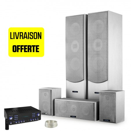 Together E1004 Silver 5 speakers HiFi / Home Cinema Amplifier 850W + LTC 5 Surround channels MP3