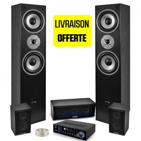 All 5 speakers LTC black E1004 Hifi / Home Cinema AV amplifier 850W + USB-320 Stereo Karaoke