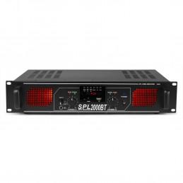 Amplificateur Skytec SPL2000BTMP3 2 x 1000W - BT/USB/SD/AUX - LED + EQ noir