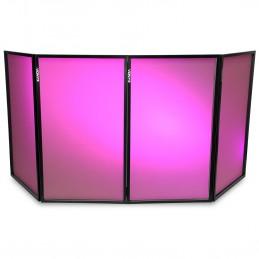 Ecran dépliable DB2 120 x 70 pour DJ - Dissimule l'équipement - Possibilité de projeter des effets