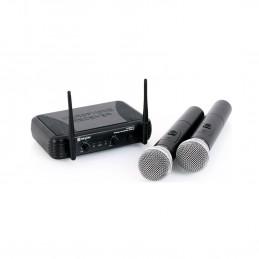 Vonyx STWM712 Système micro sans fil VHF 2 canaux - Idéal pour les événements professionnels - Transmission jusqu'à 50 mètres