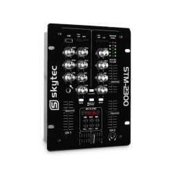 Skytec STM-2300 2canaux 50-20000Hz - tables de mixage audio (2 canaux, 50-20000 Hz, 80 dB, 47 Ohm, 2,2 Ohm, 0,02%)
