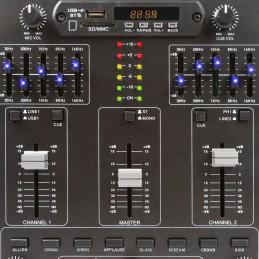 Skytec 172982 Table de mixage 4 canaux avec effets, SD/USB/MP3/BT