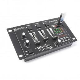 SkyTec STM-3020B Table de mixage 6 canaux avec USB/MP3 - Noire