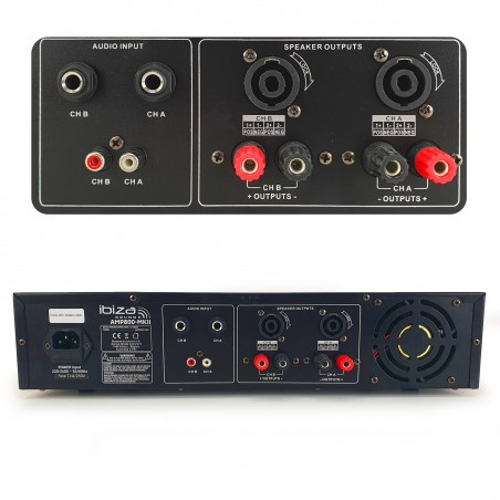 Amplificateur de sonorisation - 2 x 800W - Ibiza Sound AMP1000-MKII