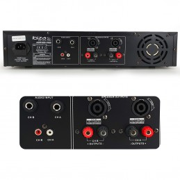 Amplificateur de sonorisation - 2 x 240W - Ibiza Sound AMP300-MKII