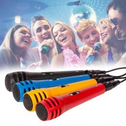 Pack de 4 microphone de couleur avec cordon XLR/Jack 6.35mm