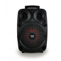 Enceinte autonome SUBLIM08 200W Koolstar à Led avec micro/Fonction BT/USB/AUX et appplication smartphone !